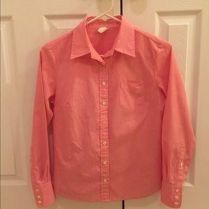 J. Crew pink button down shirt-size Petite Small